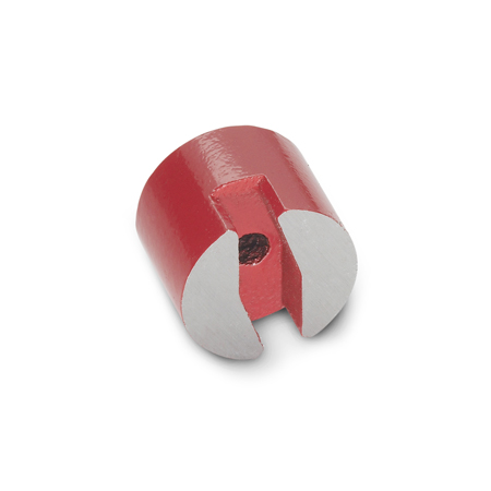 GN 60 Steel Button-Type Magnets, with thru hole