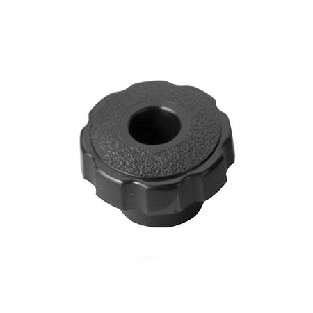 FKTH Polypropylene Plastic, Fluted Star Knobs, with Through Hole