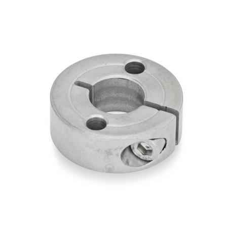 GN 7062.2 Stainless Steel Semi-Split Set Collars, with Flange Holes Type: A - with two through holes