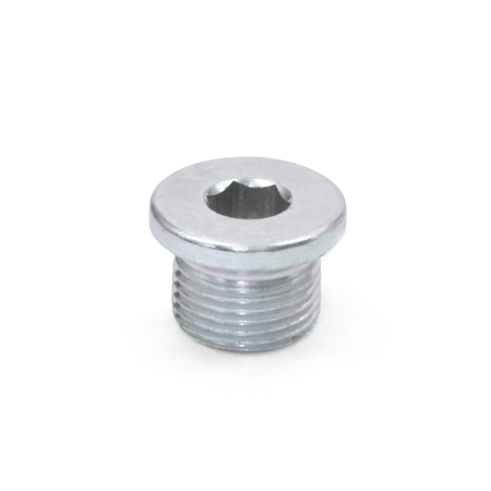DIN 908 Steel, Zinc Plated Threaded Pipe Plugs, with or without Copper or Aluminum Sealing Washers