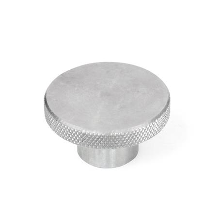 KRSK Steel or Stainless Steel Knurled Knobs, with Tapped or Blind Bore