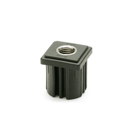 EN 348 Plastic Threaded Tube Ends, Square Type with Press-Fit Insert