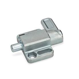 GN 722.3 Steel Square Spring Latches, with flange for surface mounting Finish: ZB - Zinc plated, blue passivated finish<br />Type: R - right indexing cam