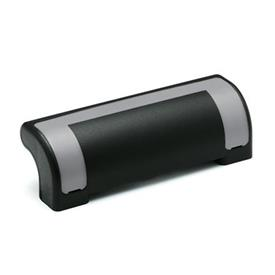 EN 630.2 Technopolymer Plastic Ergostyle® Guard Safety Handles Color of the cover: DGR - Gray, RAL 7035