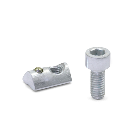 GN 965 Steel T-Nut Assemblies, For 30/40 mm Aluminum T-Slot Profile Systems