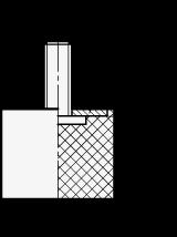 GN 452.1 Soportes de absorción de vibración/impacto, de tipo cilíndrico, con componentes de acero inoxidable boceto