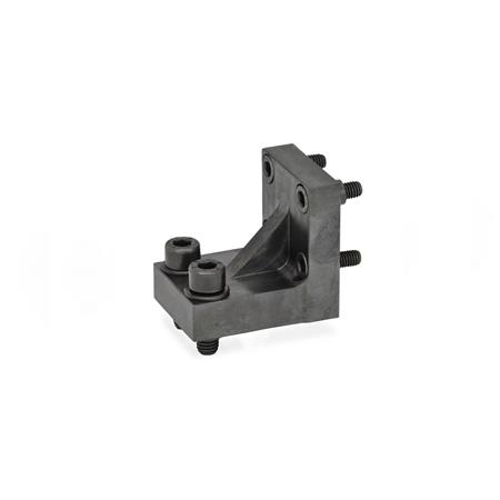 GN 868.1 Bracket / Double Post Bracket Accessories for pneumatic fastening clamps Type: R - Jaw block at right angle to clamping arm