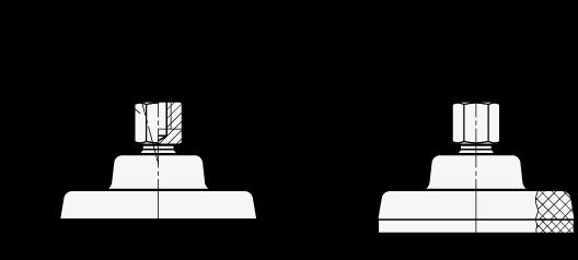PM 500.1 Soportes de nivelación de acero inoxidable «PolyMount»™, espárrago roscado boceto