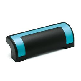 EN 630.2 Technopolymer Plastic Ergostyle® Guard Safety Handles Color of the cover: DBL - Blue, RAL 5024