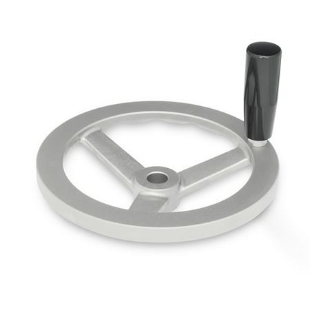 GN 949 Stainless Steel, Three Spoked Handwheels, With or Without Revolving Handle Bore code: B - Without keyway<br />Type: D - With revolving handle