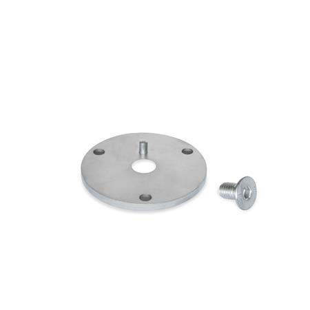 GN 784.1 Stainless steel Flanges, for GN 784 Mounting Clamps with Swivel Ball Joint