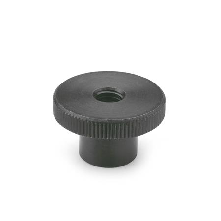 DIN 466 Steel Knurled Nuts, with Tapped Through Hole	 Material: ST - Steel