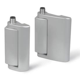 GN 139.1 Zinc Die-Cast Hinges with Electrical Switching Function, With Safety Switch and Connector Plug