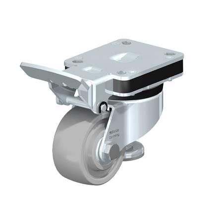 HRLK-SPOG Heavy pressed steel industrial Top Plate Casters, with Integrated Truck Lock, with Ball Bearing