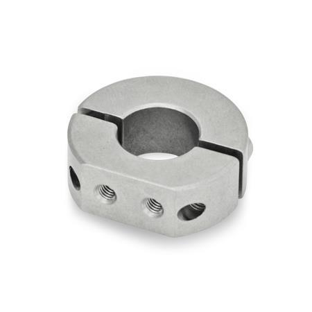 GN 7072.1 Stainless Steel Two-Piece Split Set Collars, with Extension-Tapped Holes