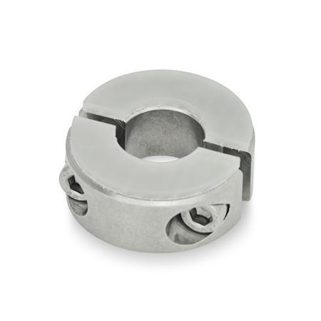 GN 7072.3 Stainless Steel Two-Piece Split Set Collars, with Dampening Washer