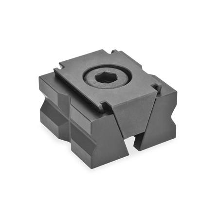 GN 920.1 Steel Wedge Clamps Type: PR - with prism jaws