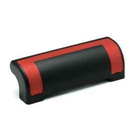 EN 630.2 Jaladeras de seguridad de protección Ergostyle® de plástico tecnopolímero Color de la cubierta: DRT - Rojo, RAL 3000