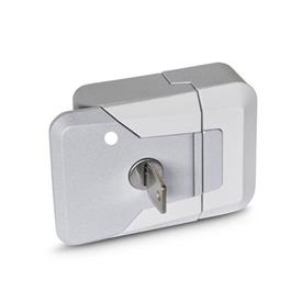 GN 936 Zinc Die-Cast Slam Latches, with and without Lock Type: SCL - Lockable (same lock)<br />Color: SR - Silver, RAL 9006, textured finish
