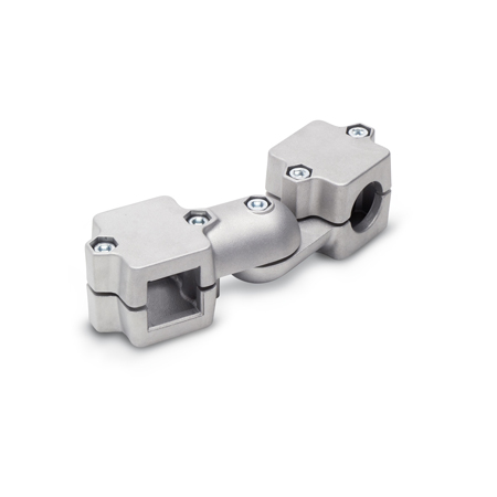 GN 289 Aluminum, Split Assembly, Swivel Clamp Connector Joints