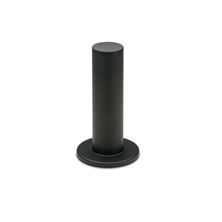 EN 539.2 Technopolymer Plastic Cylindrical Handles, with Hand Guard, Tapped Type Type: A - With hand guard, one side