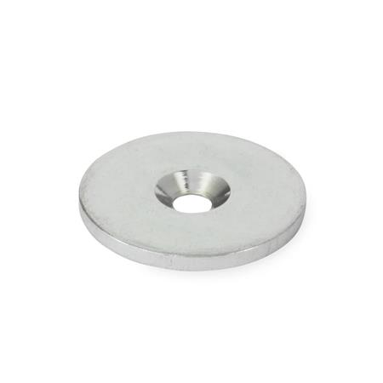GN 70 Disco adhesivos para imán, de acero, para imanes de retención