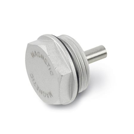 GN 738 Aluminum Magnetic Threaded Plugs, with NBR Seal