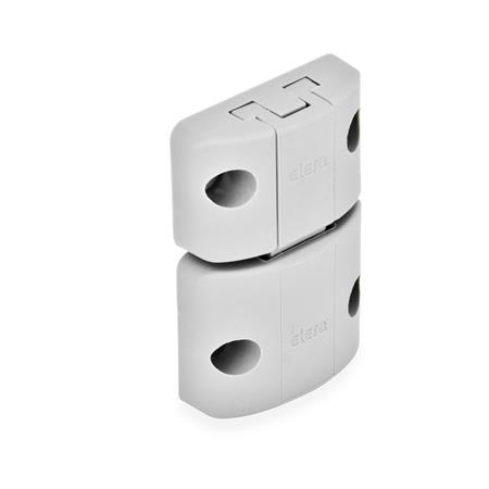 EN 449 Technopolymer Plastic Snap Door Locks Type: A - Snap lock, without interlock, without finger handle Color: LG - Gray, matte finish