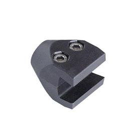 AN 500 Single Clamps for Conical Side Guide Rails