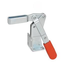 GN 812 Steel Vertical Acting Toggle Clamps, Steel, with Dual Flanged Mounting Base Type: AV - U-bar version, with two flanged washers