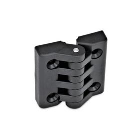 EN 151 Plastic Hinges, Miscellaneous Mounting Types Type: C - 2x2 bores for countersunk screws