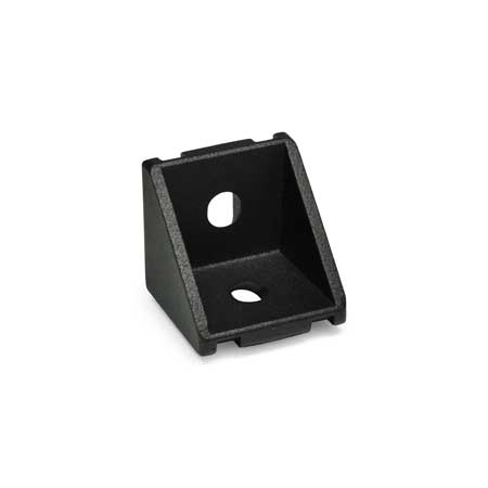 GN 961 Aluminum, Angle Brackets, For 30/40 mm Aluminum Profile Systems