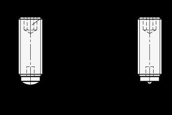 GN 913.2 Tornillos prisioneros de acero, con extremo endurecido esférico o puntiagudo boceto