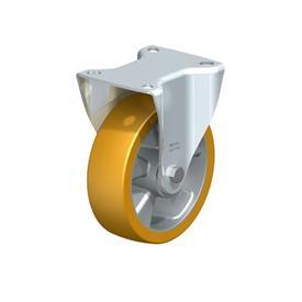B-ALTH Rodajas fijas de acero con banda Extrahane® de servicio medio, con placa de montaje Type: K - Cojinete de bolas