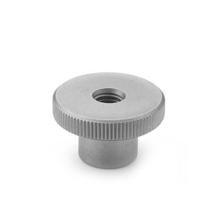 DIN 466 Stainless Steel Knurled Nuts, with Tapped Through Hole