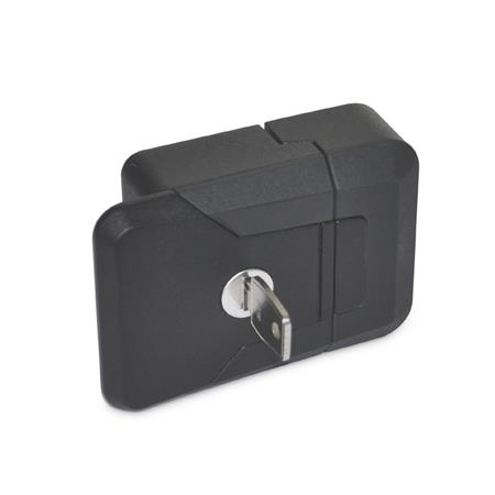 GN 936 Zinc Die-Cast Slam Latches, with and without Lock Type: SCL - Lockable (same lock) Color: SW - Black, RAL 9005, textured finish