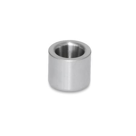 GN 179.1 Steel Guide Bushings without Collar, without collar, with Conical Bore, for GN 817.5 Indexing Plungers