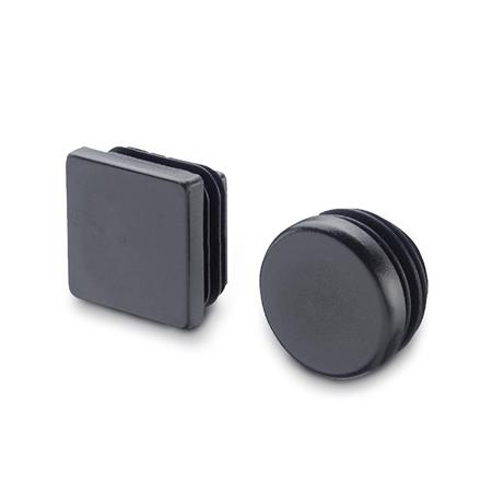WN 991 Inch Size, Plastic, Round or Square Tube End Plugs, For Construction Tubings