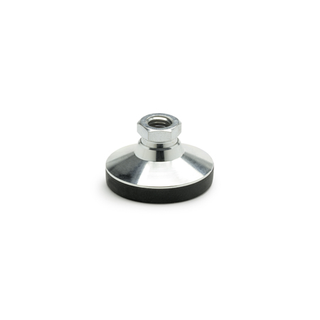 GN 343.1 Tapped Socket Type Steel Base Leveling Mounts, With or Without Plastic or Rubber Cap