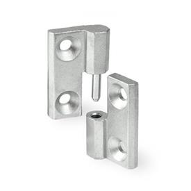 GN 337 Stainless Steel Lift-Off Hinges, With Countersunk Thru Holes