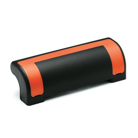 EN 630.2 Technopolymer Plastic Ergostyle® Guard Safety Handles Color of the cover: DOR - Orange, RAL 2004