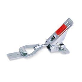 GN 831.2 Pestillos de palanca, de acero / acero inoxidable, con soporte de cierre de seguridad Material: ST - Acero