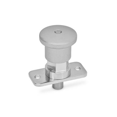 GN 822.9 Stainless Steel-Mini indexing plungers, with and without rest position Type: BN - Non lock-out, with stainless steel knob