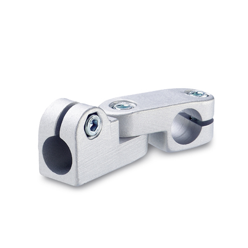 GN 287 Articulaciones de conexión de abrazadera giratoria, aluminio, tipo orificio redondo
