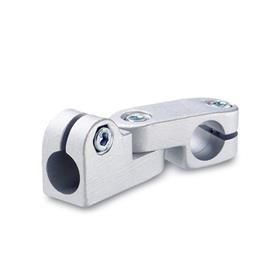 GN 287 Aluminum, Swivel Clamp Connector Joints, Round Bore Type