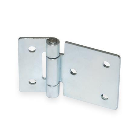 gn 136 steel sheet metal hinges with extended hinge wing jw winco