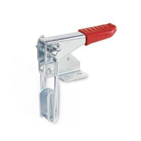 GN 851.1 Steel Vertical Latch Type Toggle Clamps, horizontal mounting base, vertical clamping arm Type: T3 - with U-bolt latch, with catch
