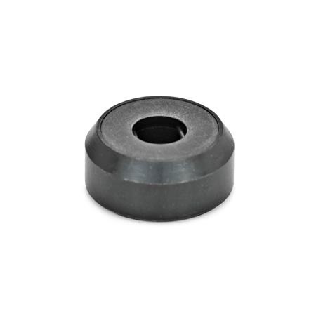 GN 6311.1 Steel Thrust Pads, Plain Base or with Plastic Cover Type: A - Thrust pad surface plain, without plastic cap