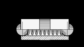 GN 614.2 Posicionadores de bola por presión, bola en ambos extremos, de latón boceto