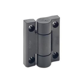 EN 233.3 Plastic Hinges, with Spring-Loaded Return